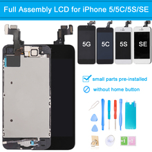 for iPhone 5 5C 5S SE LCD Display Touch Screen Digitizer Full Assembly Replacement Set +Tool