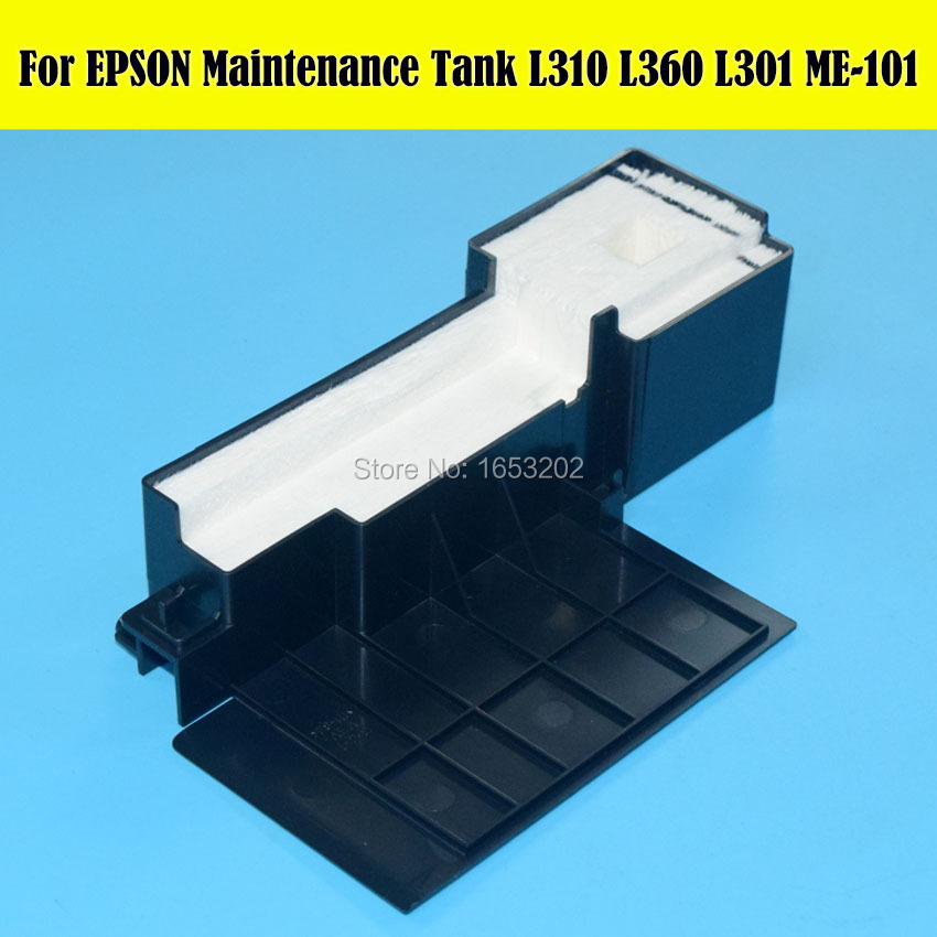 1 PC NEW Original Maintenance Ink Tank For EPSON For EPSON L220 L111 L351  L350 L301 L353 Printer Waste ink Tank-in Printer Parts from Computer &