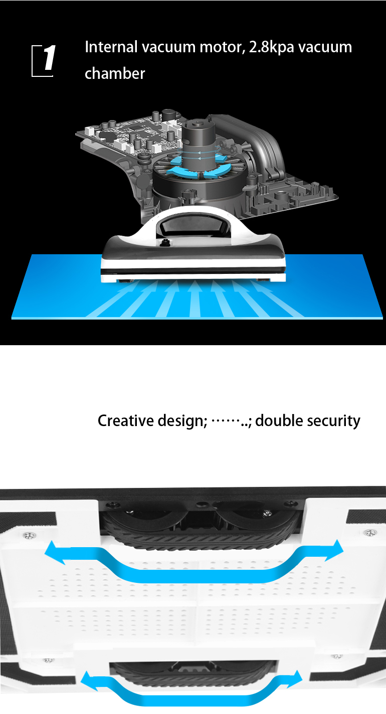 Liectroux X6 Robot Window Vacuum Cleaner Laser & Pressure Sensor Antifall Auto Glass Mop Home Floor Windows Wall Cleaning Robot