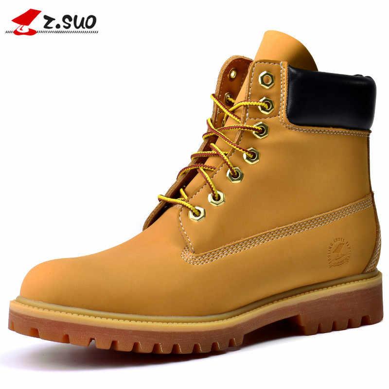 f6cf27c89e61 Z. suo мужские ботинки высокого качества, размеры 39-45, брендовая мужская