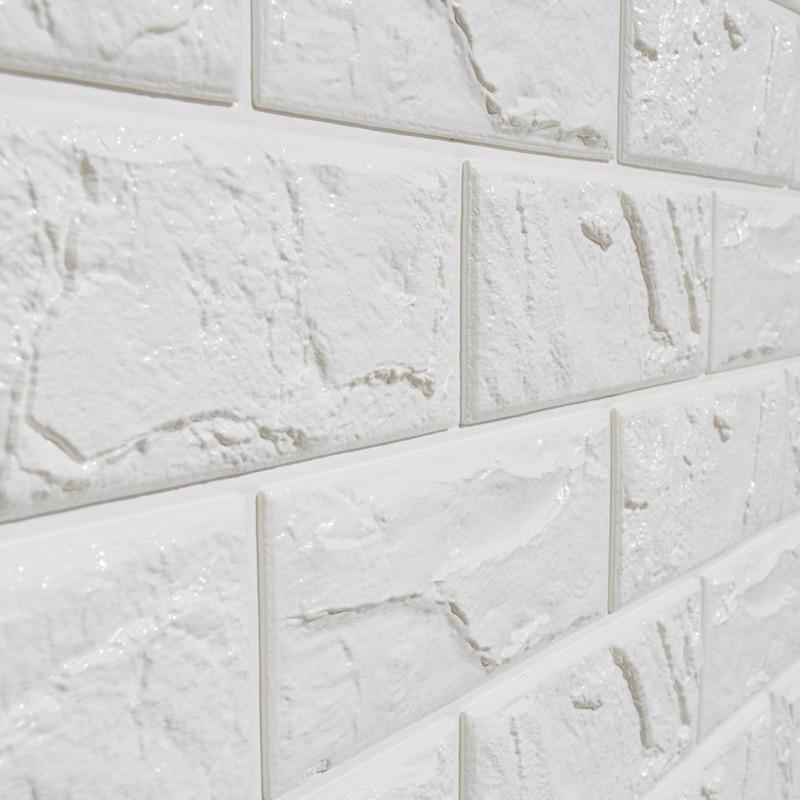 3d Brick Embossed Wallpaper 1pc White Embossed 3d Brick Wall Sticker Panel Soft