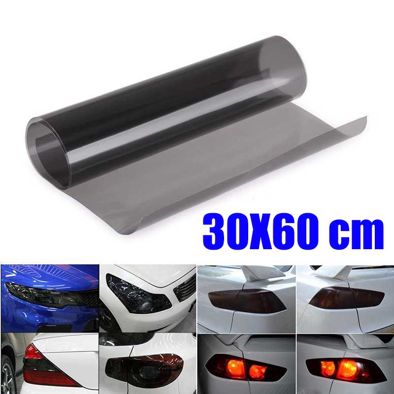 mayitr 60x30cm dark black car light vinyl film auto headlight taillight tint vinyl sheet sticker. Black Bedroom Furniture Sets. Home Design Ideas
