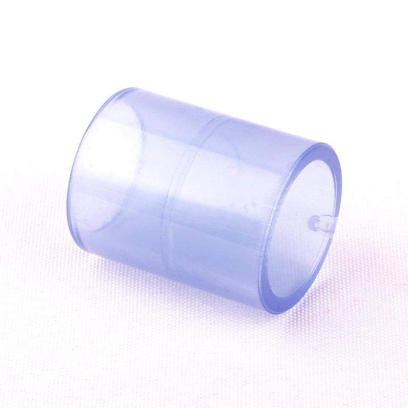 Inner Dia 25mm 1 Inch Socket Transparent PVC Pipe Equal Coupling Plastic Straight Connector Adaptors image