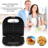 Household Electric Waffle Maker Non Stick Plate Waffle Making Machine Multifunctional Double Sided Frying Pan
