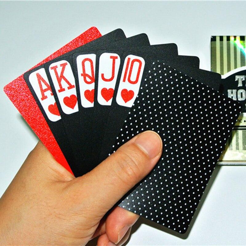 Voyage TEXAS HOLD'EM Cartes À Jouer Poker Balck Frais Carte En Plastique PVC Fun de Divertissement En Plein Air Accessoires