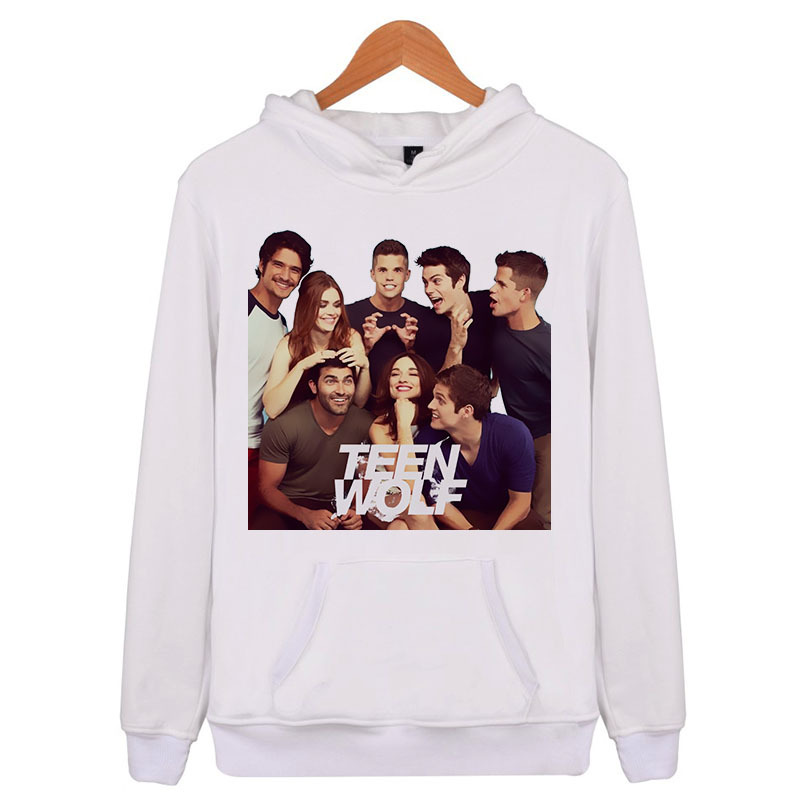 Teen Wolf Crew Hoodie Men Women Casual Boys Hoodies And Sweatsirts Male Streetwear Tracksuit Q5932