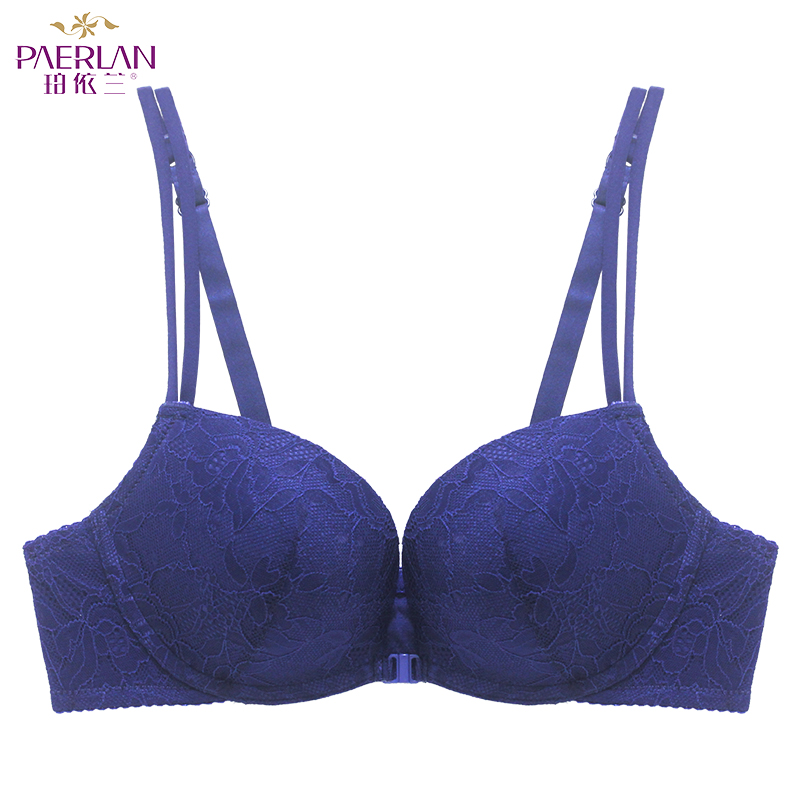 6c43cc2577 PAERLAN underwear bra Push Up sexy bra Front Closure thick cup summer lace  comfortable Wire Free woman Adjusted straps One Piece-in Bras from Underwear  ...