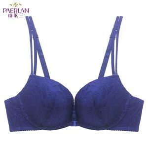 Image 3 - Paerlan underwear bra push up sexy sutiã frontal encerramento copo grosso verão rendas confortável fio livre mulher ajustada correias de uma peça