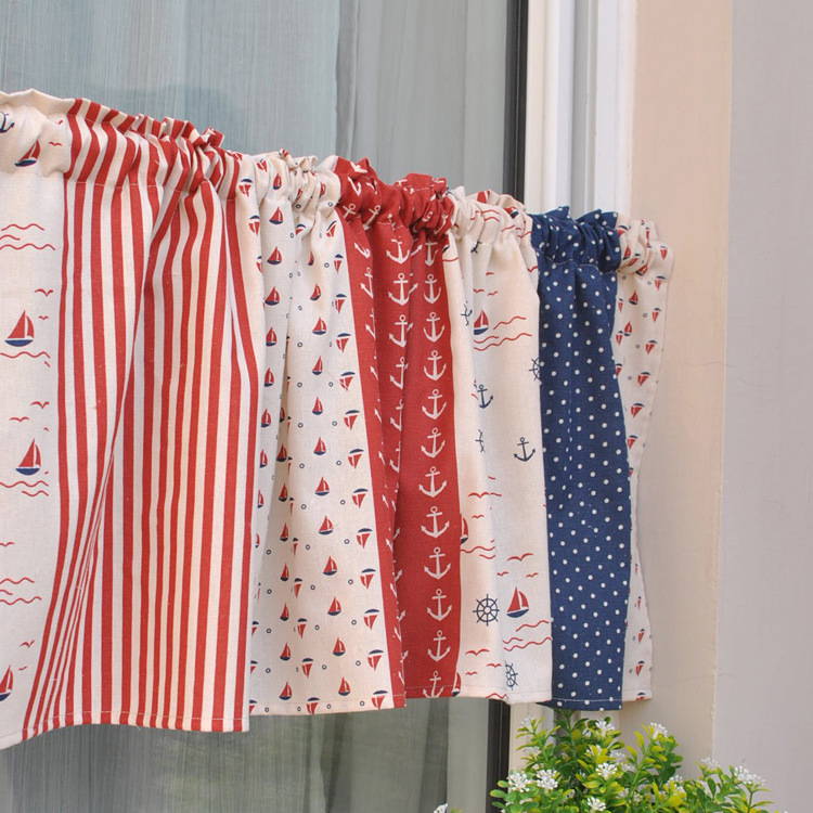 Cheap Kitchen Curtains Base Cabinets With Drawers American Country Splicing Short Curtain ...