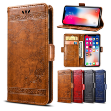 For Huawei P Smart Z Case Luxury Vintage Flip Wallet Leather Fundas Cover for Phone Accessories