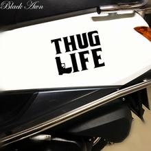 Thug Life Sticker Tupac gangster Funny Hater JDM Shakur car window gun decal D015