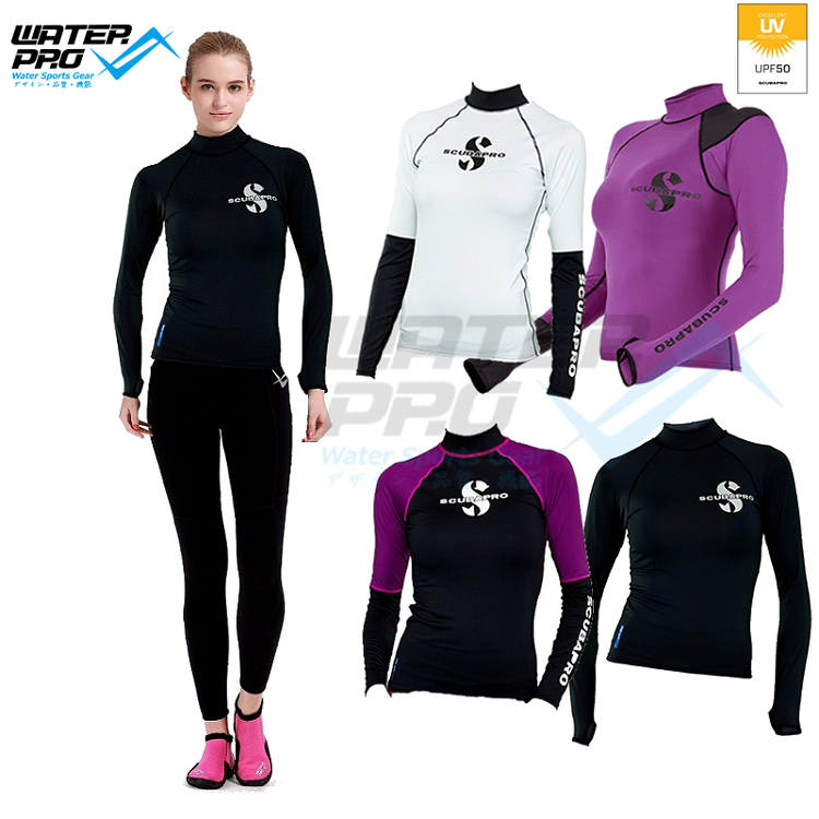 Scubapro Hybrid RASHGUARD LONG SLEEVES LADY UPF50 for Water Sports snorkeling scuba diving