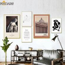 Vintage Roman Architecture Mattis Woman Renaissance Canvas Print Painting Poster Art Wall Picture for Living Room Home Decor