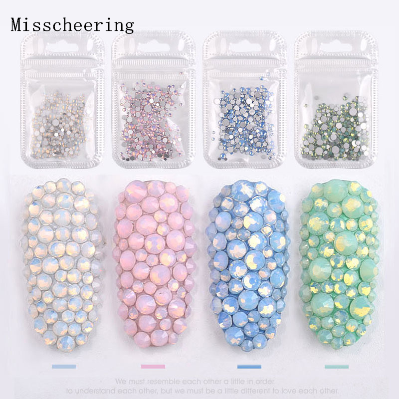 1pack Mixed Size (SS4 SS20) Crystal Colorful Opal Nail Art Rhinestone  Decorations Glitter Gems 3D Manicure Books Accessory Tools-in Rhinestones  ... 31552d39c34f