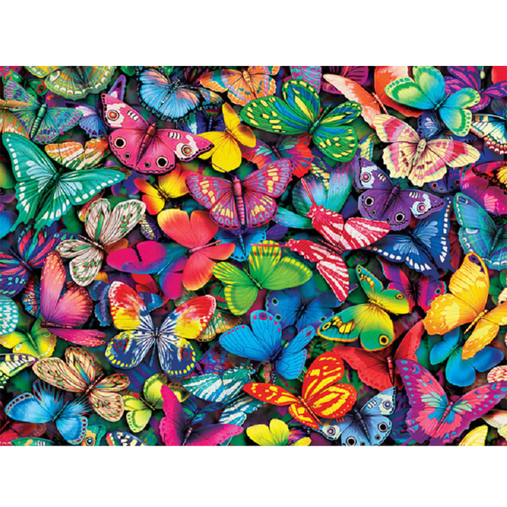 butterfly DIY 5D diamond painting color embroidery Color Butterfly full rhinestones mosaic diamonds