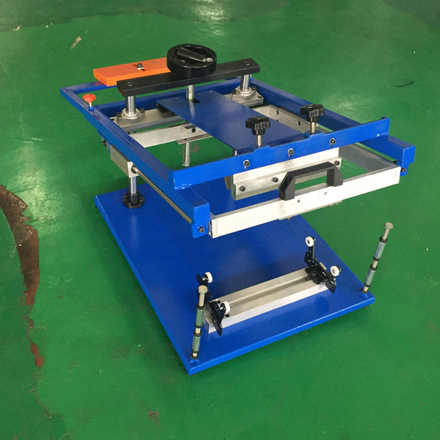manual cylinder screen printing machine for bottles, cups, pens