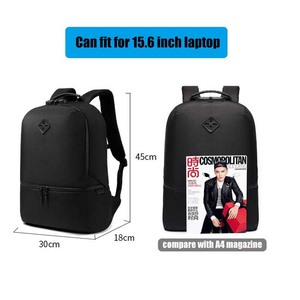 Image 5 - Sac à dos Anti vol pour hommes, sacoche étanche pour adolescents, chargeur USB, décontracté pouces, sacoche de voyage 15.6 Mochila