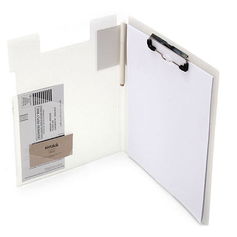 Office School Multi-Function Folder With Elastic Clip Board Folder Suitable For A4 Files Pen Card Finishing Storage