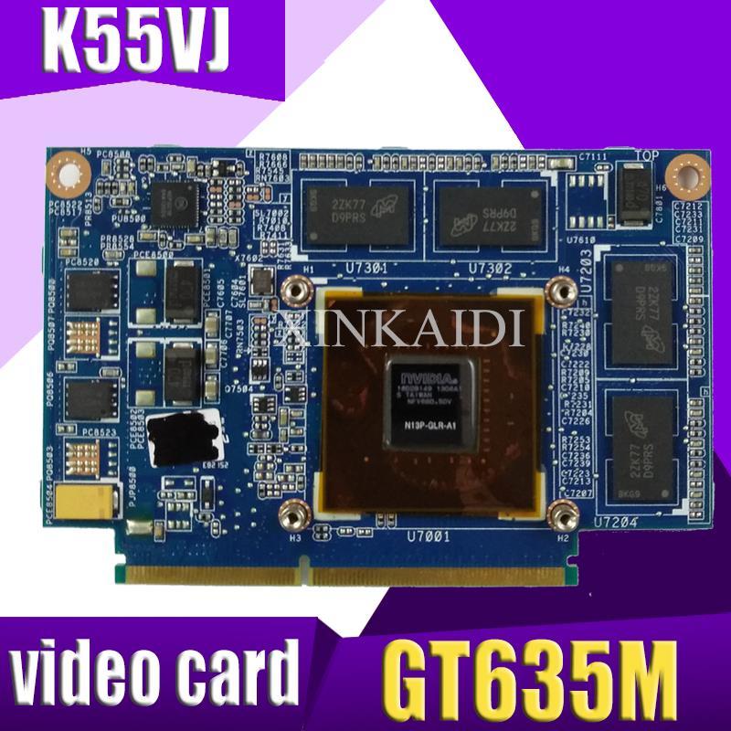 XinKaidi K55VJ GeForce GT635M N13P GLR A1 2GB Video card font b Memory b font For