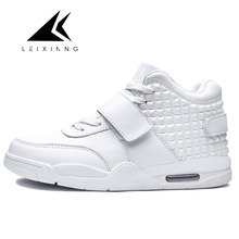 Euro Size Basketball Shoes Sneakers Waterproof PU Outdoor Athletic Ankle Boots Zapatillas Baloncesto Fall White Basketball Shoes недорго, оригинальная цена