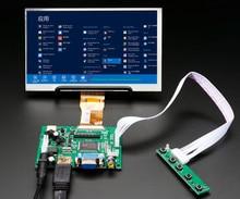Pantalla LCD TFT 1024*600 con placa de Control de controlador remoto 2AV HDMI VGA para Lattepanda,Raspberry Pi Banana Pi