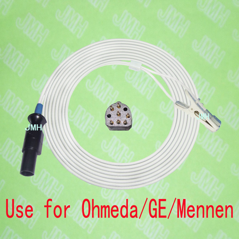 Compatible with 7PIN Ohmeda,GE,Mennen Pulse Oximeter monitor the Child and Adult ear or Animal tongue clip spo2 sensor.Compatible with 7PIN Ohmeda,GE,Mennen Pulse Oximeter monitor the Child and Adult ear or Animal tongue clip spo2 sensor.