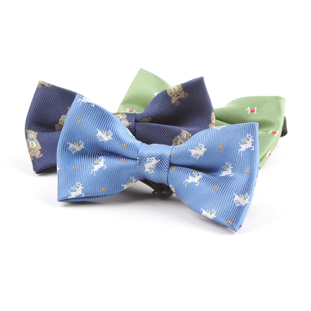 VEEKTIE New Style Plaid Children Bow Tie Baby Kids Bowties Classical Pet Striped Butterfly Dog Noeud Papillon Enfant Blue Red