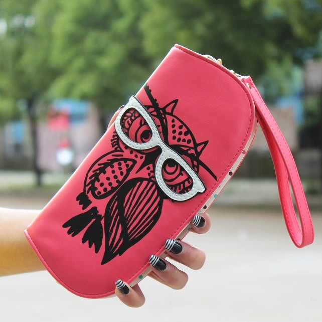 New Long Women Wallet Cute Owl...