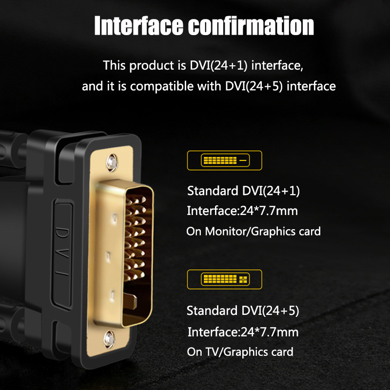 DVI to DVI Cable DVI-d Audio Aux Jack Digital Audio Converter DVI 24+1 Cable HiFi Gold plated 1m to 15m for Projector Laptop TV