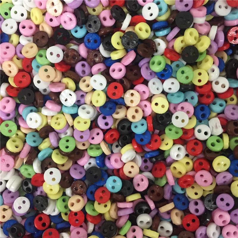 600 pcs Basic Buttons Round Colorful Thin Edge Sewing Button for DIY Art Crafts