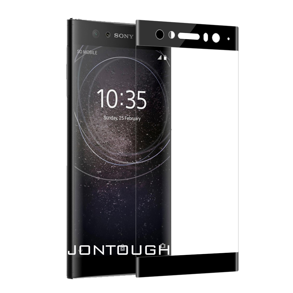 for SONY XZ1 XZ2 COMPACT XA1 PLUS XA2 ULTRA tempered glass screen protector full cover case friendly bubble free accessaries