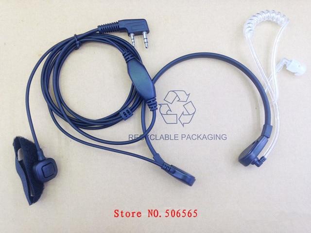 honghuismart Throat control air tube mic earphone 2pins K plug for Kenwood ,Baofeng uv5r,TYT,Quangsheng,Puxing etc walkie talkie