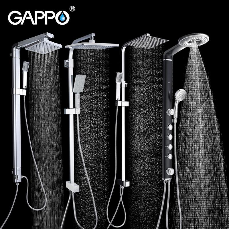 GAPPO bad dusche wasserhahn wand bad dusche armaturen set Wasserfall wand dusche mischbatterie set ABS badewanne wasserhähne regen dusche köpfe