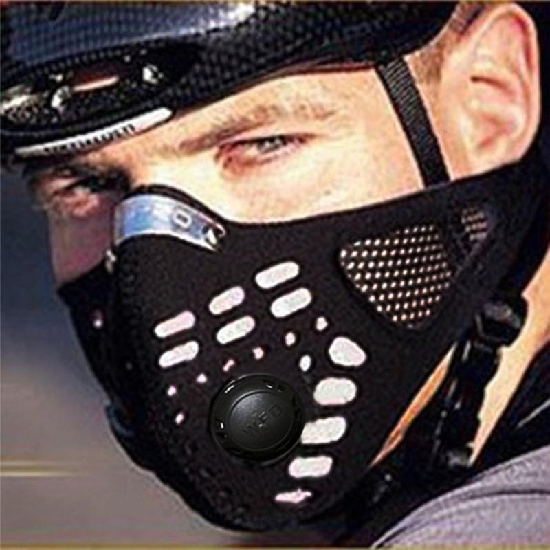 Prix pour WOSAWE Anti-pollution vélo vélo Ville vélo moto Visage masque Cover sports de plein air bouche-moufle antipoussière avec filtre