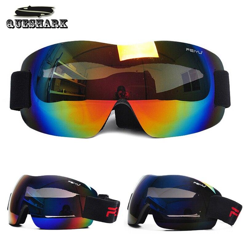 Queshark Professional Snowboarding Goggles Ski Glasses Kids Men Women Anti fog Gafas Motocross font b Skiing
