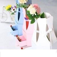 Fashiondiamond hình ngăn kéo cầm tay hoa popcorn xô sáng tạo hoa bao bì hộp quà tặng đám cưới lễ hội nguồn cung cấp bên