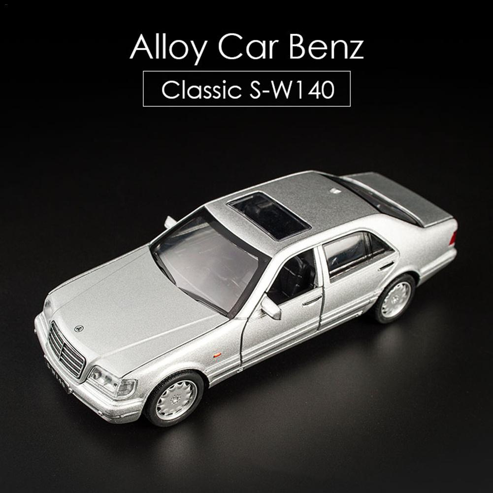 1:32 <font><b>Mercedes</b></font>-<font><b>Benz</b></font> S-<font><b>W140</b></font> Alloy Model Car Sound Light Pull-back Toy Car image