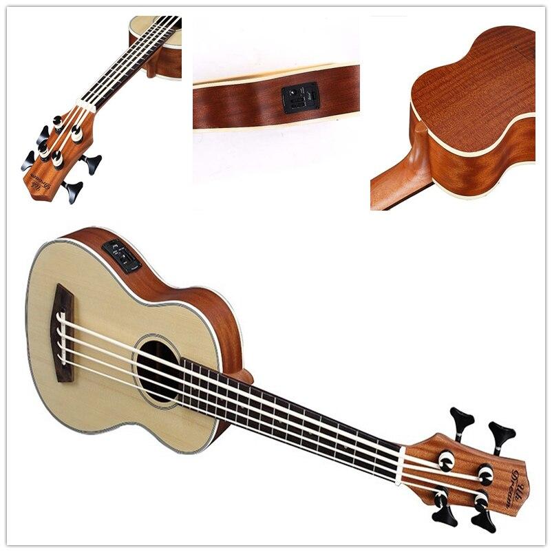 30 pouces ukulélé basse Guitarra Electrica mini guitare Instruments de musique professionnel épicéa voyage petite guitare ukelele - 4