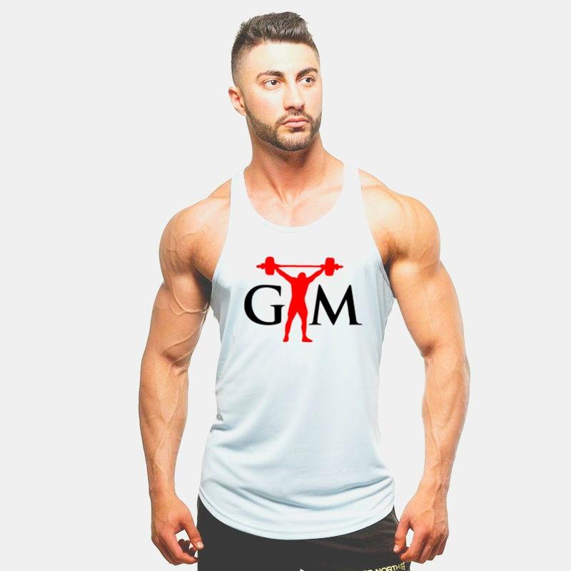 Men Stringer   Tank     Top   Fitness Singlet 2019 NEW GYM Body building Brand   Tank     Top   Sleeveless shirt Workout Man Undershirt Clothing