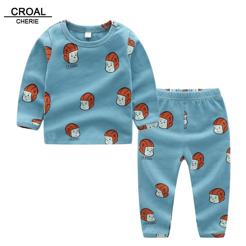 Croal Cherie 2 Stücke Baby Thermische Unterwäsche Unisex Kinder Jungen Mädchen Lange Unterhosen Sets Herbst Kinder Pyjamas Anzug Kleidung 90 -130 Cm