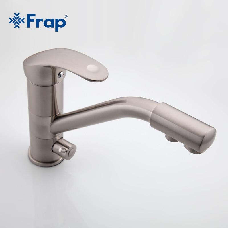 Haut de gamme en laiton corps Nickel brossé cuisine robinet évier mélangeur robinet 360 degrés rotation avec purification de l'eau caractéristiques F4321-5 - 3