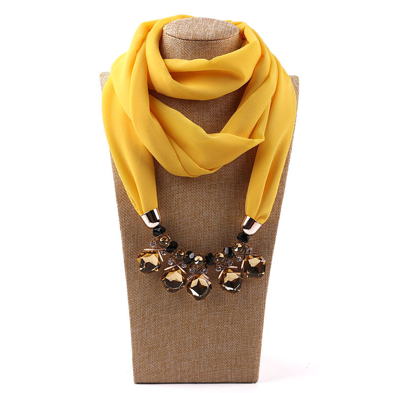 HTB1rt6.LQPoK1RjSZKbq6x1IXXaN - RUNMEIFA Multi-style Jewelry Statement Necklace Pendant Scarf Women Bohemia Neckerchief Foulard Femme Accessories Hijab Stores