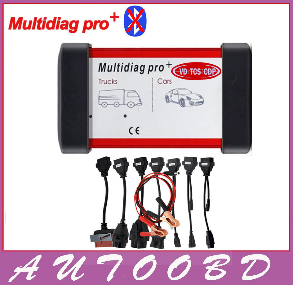 Freeshipping 2014 R2 /2015.R1 Multidiag Pro VD TCS CDP VCI No bluetooth cartoon box For Multi-Cars and Trucks + 8pcs Car cables new arrival new vci cdp with best chip pcb board 3 0 version vd tcs cdp pro plus bluetooth for obd2 obdii cars and trucks