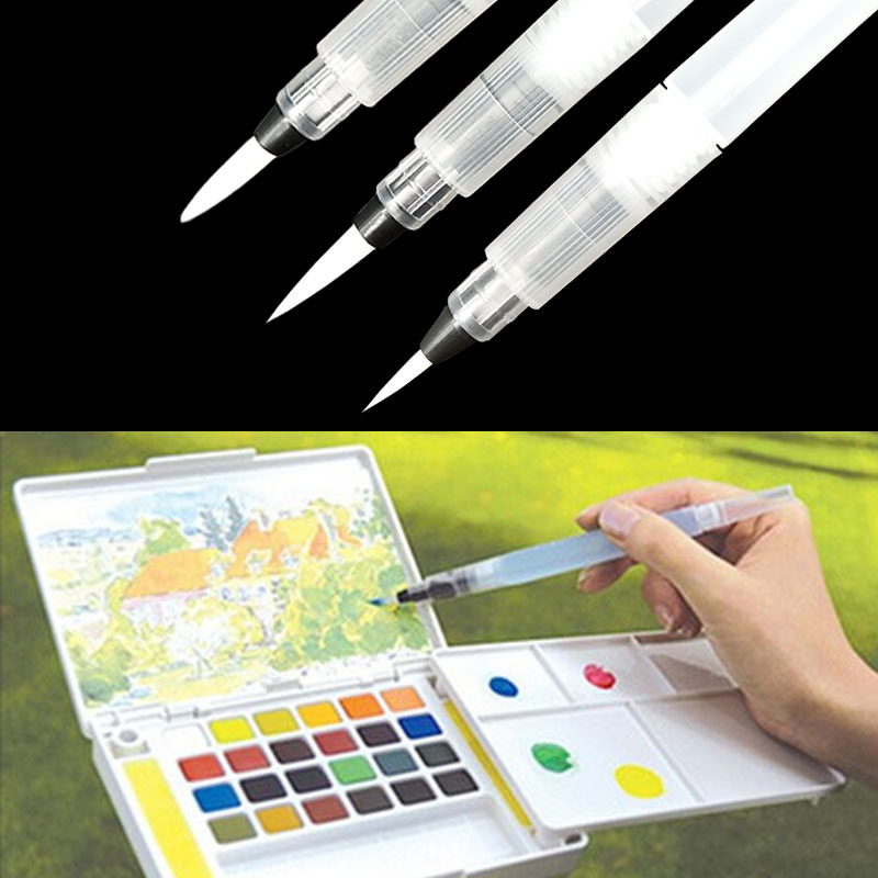 1 Pcs/ S M L Refillable Pilot Water Brush Ink Pen For Water Color Calligraphy Drawing Painting Illustration 2019 New Arrival