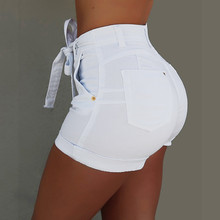 Knot Jeans Bow Pockets Denim short Pants SF