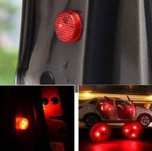 2Pieces Universal Car Door LED Opened Warning Red Light Flash Light Kit Wireless Anti-collid car wireless light(China)