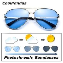 Marka havacılık mavi pembe sürüş fotokromik güneş gözlüğü erkek kadın polarize bukalemun güneş gözlüğü erkek oculos de sol masculino