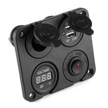 Многофункциональная Панель Bluetooth беспроводное двойное автомобильное usb-устройство для зарядки телефона розетка для автомобильного прикуривателя Автомобильный вольтметр