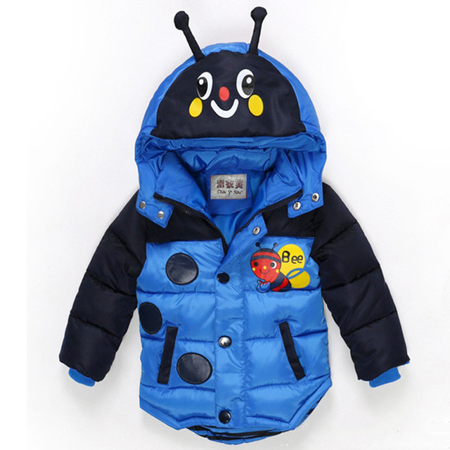 f1f2a209e Baby Boys Jacket Winter Thick Jackets For Boys Bees Hooded Down ...