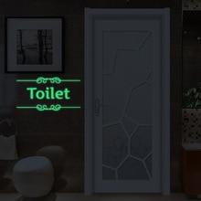 дешево!  Творческий мультфильм Ванная Комната Световой Стикер Туалет Флуоресцентный Стикер Стены ПВХ Съемный
